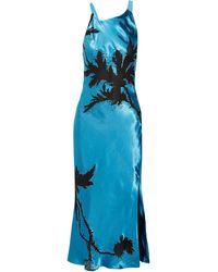 Topshop Unique Long Dress - Blue