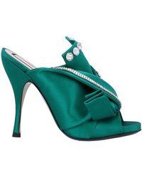 N°21 Sandals - Green