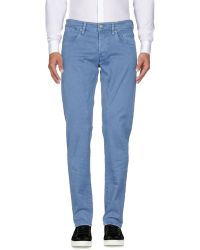 Siviglia Casual Trousers - Blue
