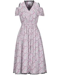 Ainea Knee-length Dress - Purple