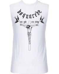 DSquared² Camiseta de tirantes interior - Blanco
