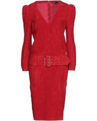 Jitrois Vestido midi - Rojo