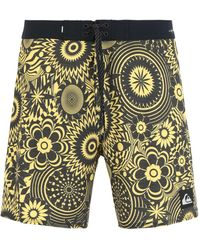 Quiksilver Beach Shorts And Pants - Yellow