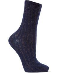 Maria La Rosa Short Socks - Blue