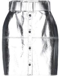 MSGM Knee Length Skirt - Metallic