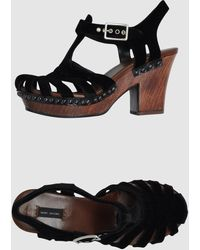 Marc Jacobs Platform Sandals - Black