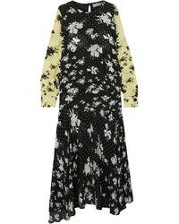 Preen Line Long Dress - Black