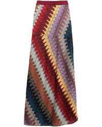 Missoni Long Skirt - Purple