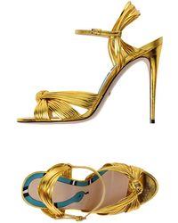 Gucci Allie Knot Sandals 100 - Metallic