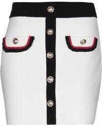 Maje Knee Length Skirt - White