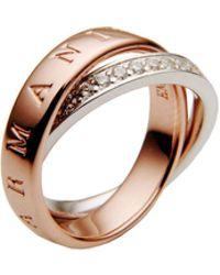 Emporio Armani - Rings - Lyst