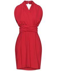 Satine Label Midi Dress - Red