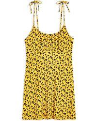 TOPSHOP Short Dress - Yellow