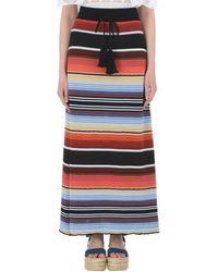 Laneus Long Skirt - Black
