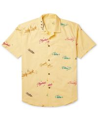 The Elder Statesman Shirt - Yellow