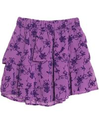 Soallure Mini Skirt - Purple