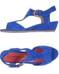 Pas De Rouge Sandals - Blue