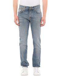 Nudie Jeans Denim Trousers - Blue