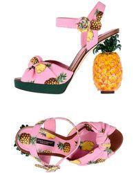 Dolce & Gabbana Sandales - Rose