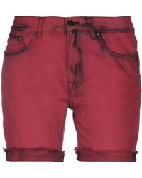 Karl Lagerfeld Denim Bermudas - Red