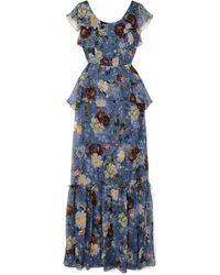 Erdem Langes Kleid - Blau