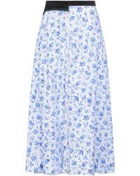 Marine Serre Long Skirt - Blue