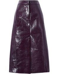 Tibi 3/4 Length Skirt - Purple
