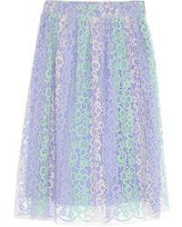 Blugirl Blumarine 3/4 Length Skirt - Purple