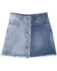 Motel Denim Skirt - Blue