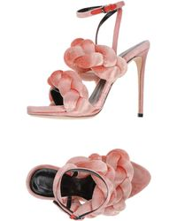 Marco De Vincenzo Braided Sandals - Pink