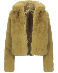 Glamorous Teddy Coat - Green