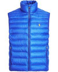 Polo Ralph Lauren Zip-up Packable Vest - Blue