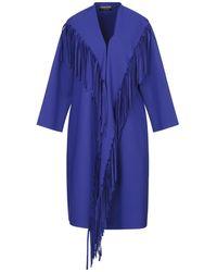 La Petite Robe Di Chiara Boni Overcoat - Blue