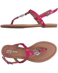 Armani Jeans Toe Strap Sandals - Purple