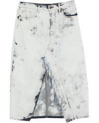 Motel Denim Skirt - White