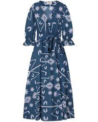 AROSSGIRL x SOLER Long Dress - Blue