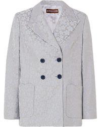 Self-Portrait Suit Jacket - Grey