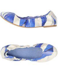 Aperlai Ballet Flats - Blue