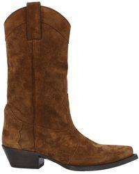 Saint Laurent Knee Boots - Brown