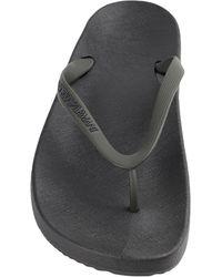 Emporio Armani Toe Strap Sandals - Multicolor