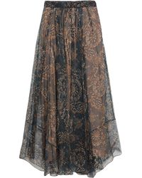 Brunello Cucinelli Long Skirt - Blue