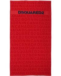DSquared² Serviette de plage - Rouge