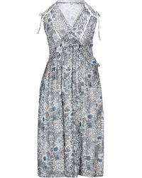 Suncoo Knielanges Kleid - Grau