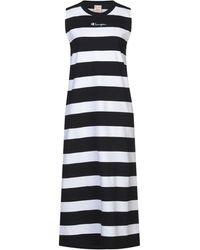 Champion Horizontal Stripes Dress - White