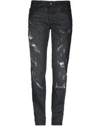 Les Hommes Denim Trousers - Black