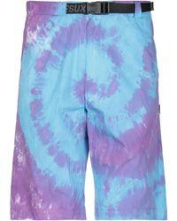 LIFE SUX Bermuda Shorts - Purple