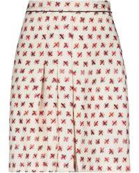 Momoní Knee Length Skirt - White