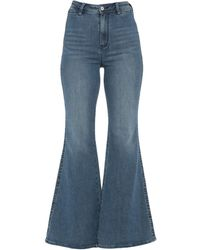 Free People Pantaloni jeans - Blu