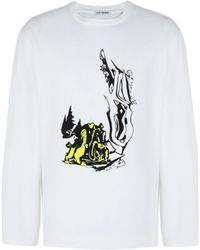 Our Legacy Long Sleeve Psychedelic Box Tee - White