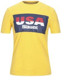 Blauer T-shirt - Yellow